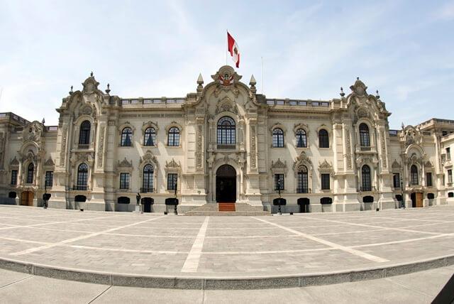 Palácio do governo em Lima, Peru.
