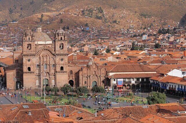 Praça Central em Cusco, Plaza de Armas.